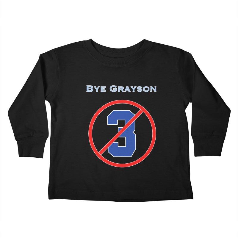 Bye Grayson #3 Kids Toddler Longsleeve T-Shirt by leaguegear's Artist Shop