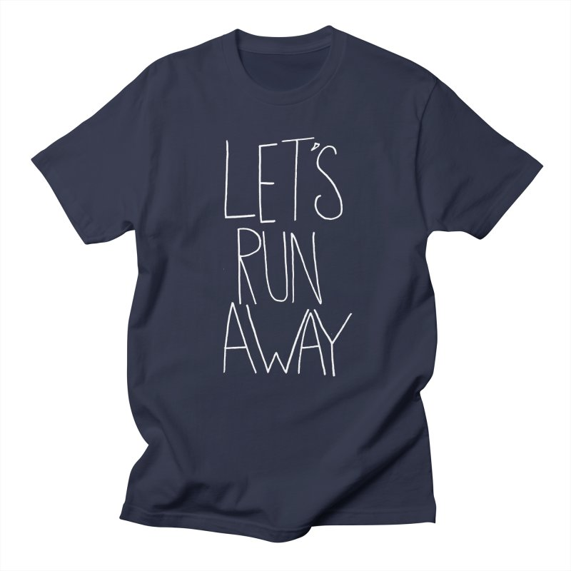 Let's Run Away Men's Regular T-Shirt by Leah Flores' Artist Adventureland Shop