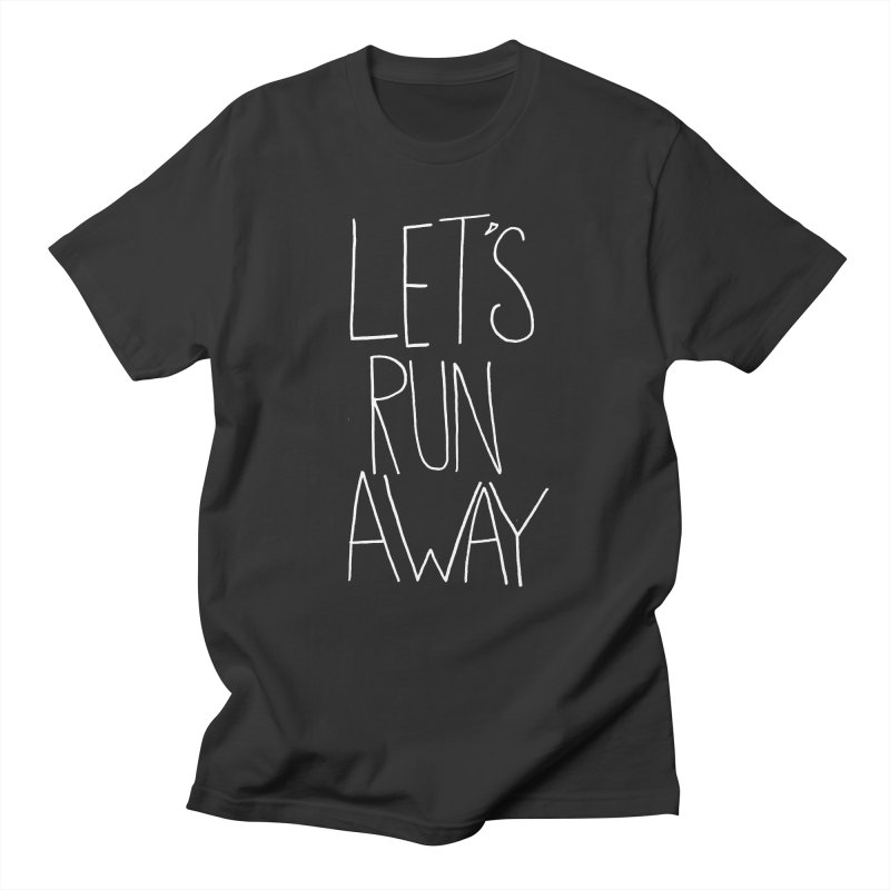 Let's Run Away Men's Regular T-Shirt by Leah Flores' Artist Adventureland Shop
