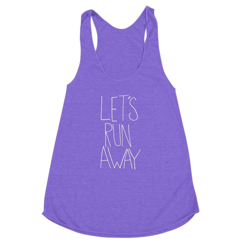 Let's Run Away Women's Racerback Triblend Tank by Leah Flores' Artist Adventureland Shop