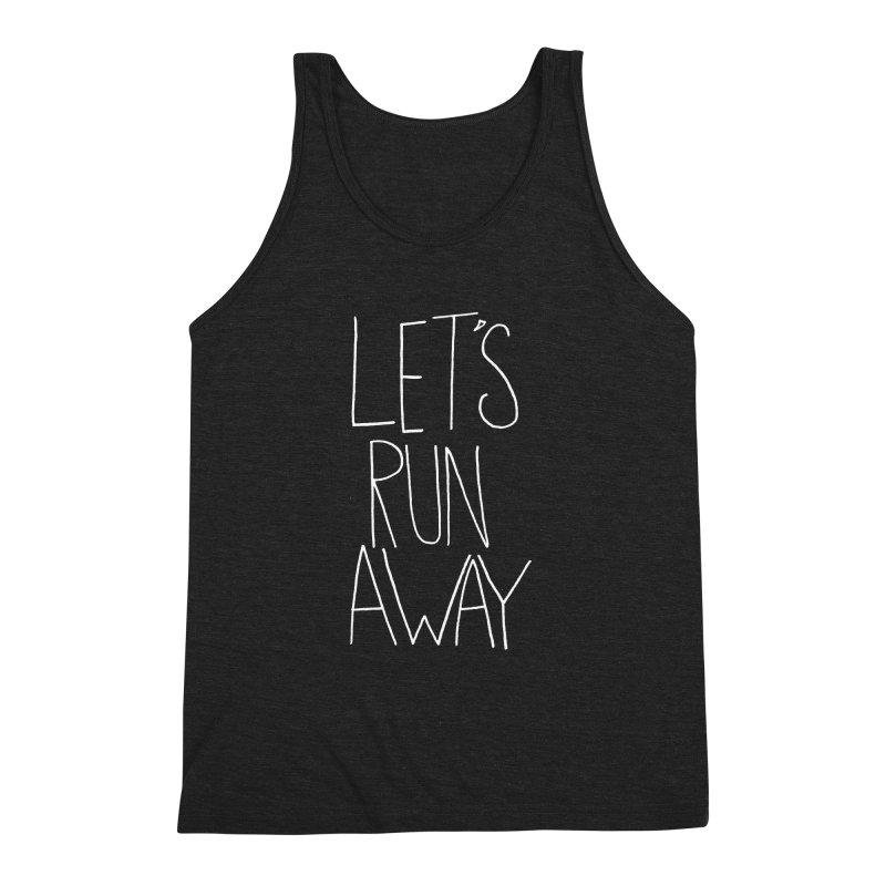 Let's Run Away Men's Triblend Tank by Leah Flores' Artist Adventureland Shop