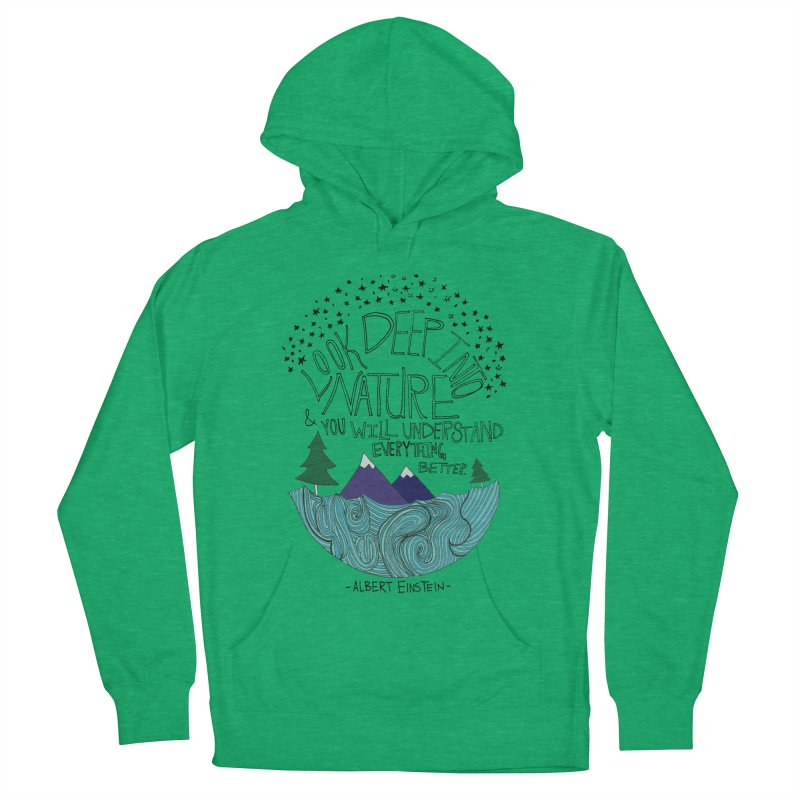 Einstein Nature Women's Pullover Hoody by Leah Flores' Artist Adventureland Shop