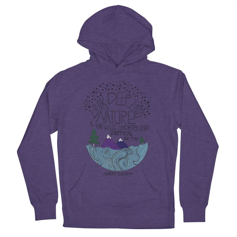 Einstein Nature Women's French Terry Pullover Hoody by Leah Flores' Artist Adventureland Shop