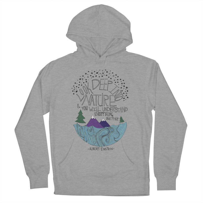 Einstein Nature Men's French Terry Pullover Hoody by Leah Flores' Artist Adventureland Shop