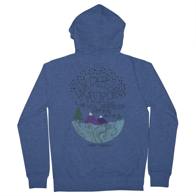 Einstein Nature Women's Zip-Up Hoody by Leah Flores' Artist Adventureland Shop