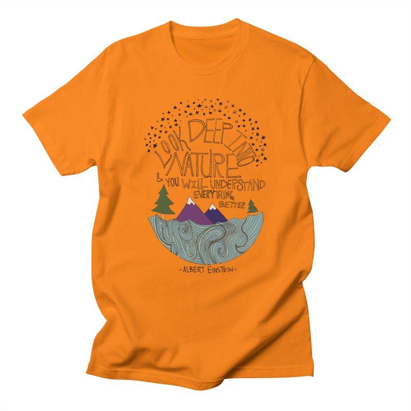 Einstein Nature Men's Regular T-Shirt by Leah Flores' Artist Adventureland Shop