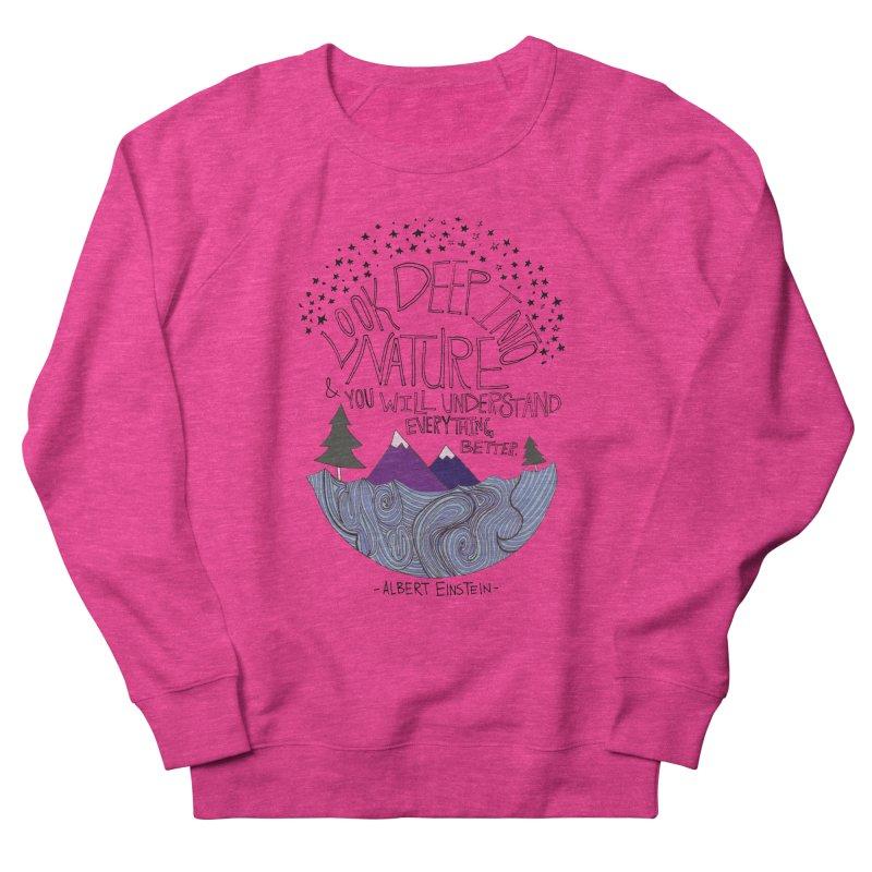 Einstein Nature Women's Sweatshirt by Leah Flores' Artist Adventureland Shop