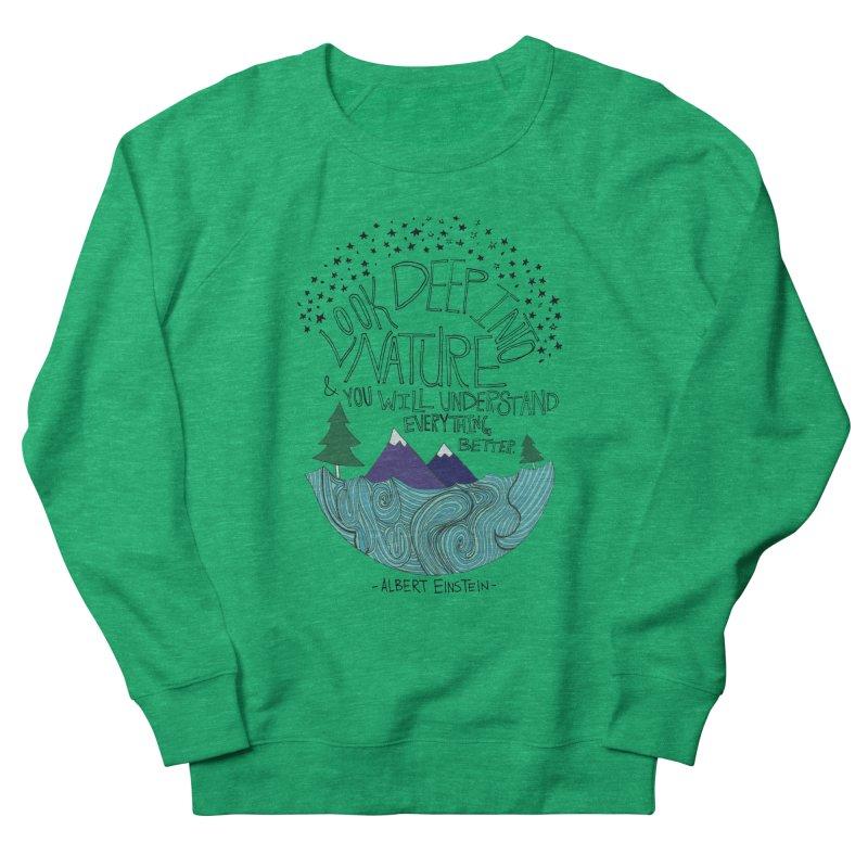 Einstein Nature Men's Sweatshirt by Leah Flores' Artist Adventureland Shop