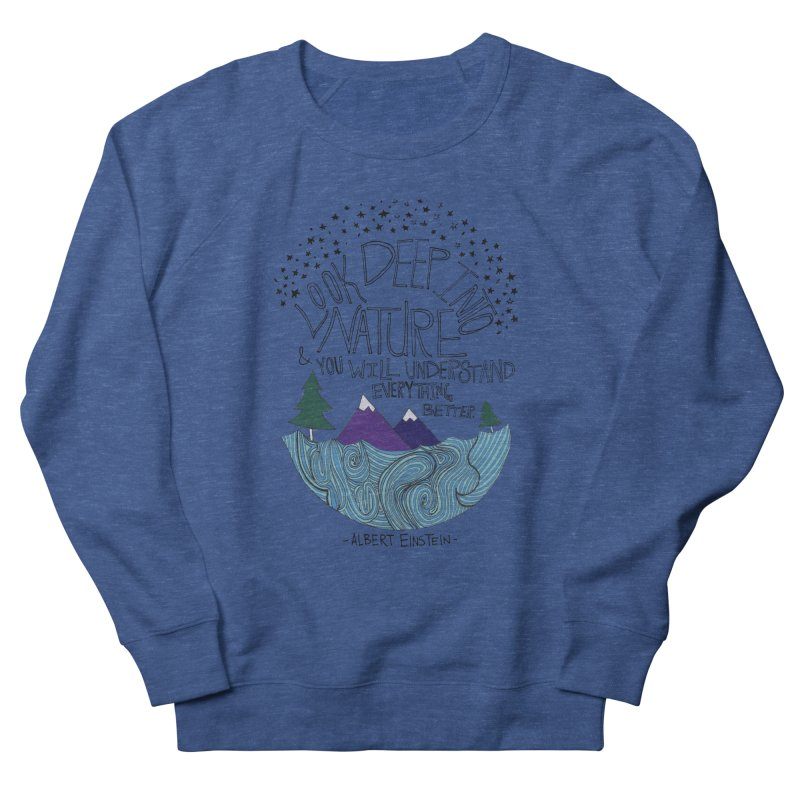 Einstein Nature Men's Sweatshirt by Leah Flores' Artist Adventureland Shop