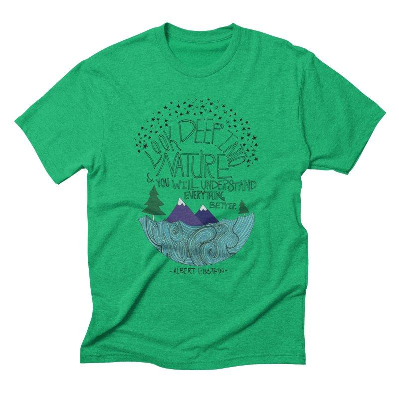Einstein Nature Men's Triblend T-Shirt by Leah Flores' Artist Adventureland Shop