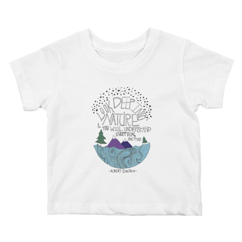 Einstein Nature Kids Baby T-Shirt by Leah Flores' Artist Adventureland Shop