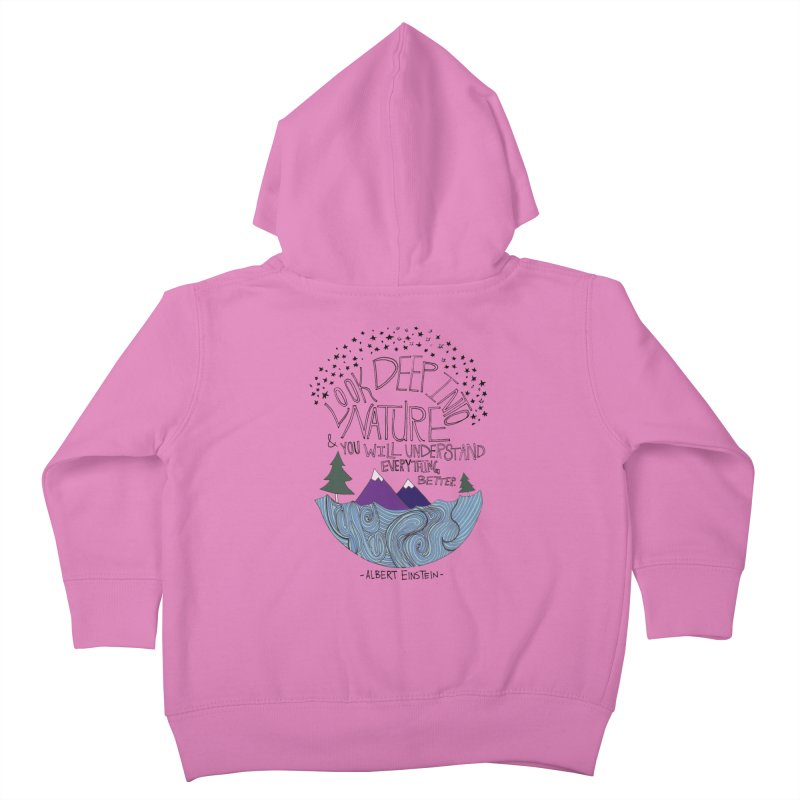Einstein Nature Kids Toddler Zip-Up Hoody by Leah Flores' Artist Adventureland Shop