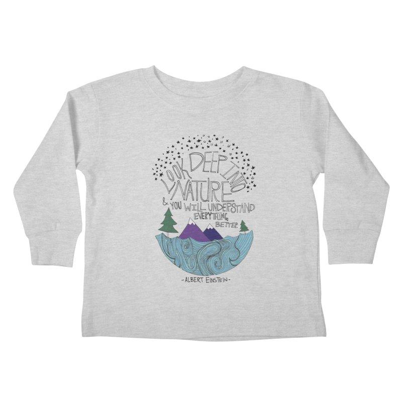 Einstein Nature Kids Toddler Longsleeve T-Shirt by Leah Flores' Artist Adventureland Shop