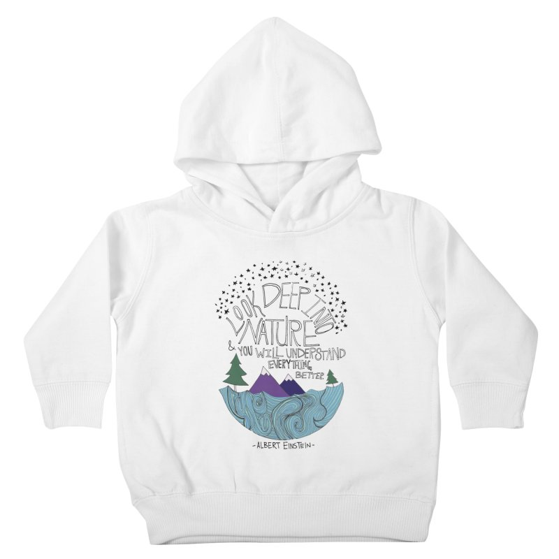 Einstein Nature Kids Toddler Pullover Hoody by Leah Flores' Artist Adventureland Shop