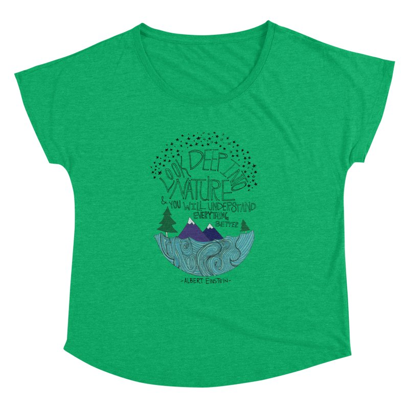 Einstein Nature Women's Dolman Scoop Neck by Leah Flores' Artist Adventureland Shop