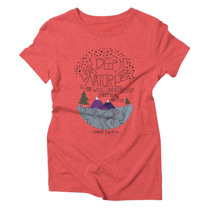 Einstein Nature Women's Triblend T-Shirt by Leah Flores' Artist Adventureland Shop