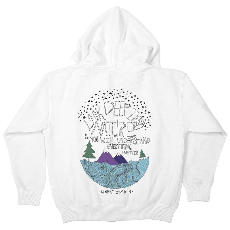 Einstein Nature Kids Zip-Up Hoody by Leah Flores' Artist Adventureland Shop