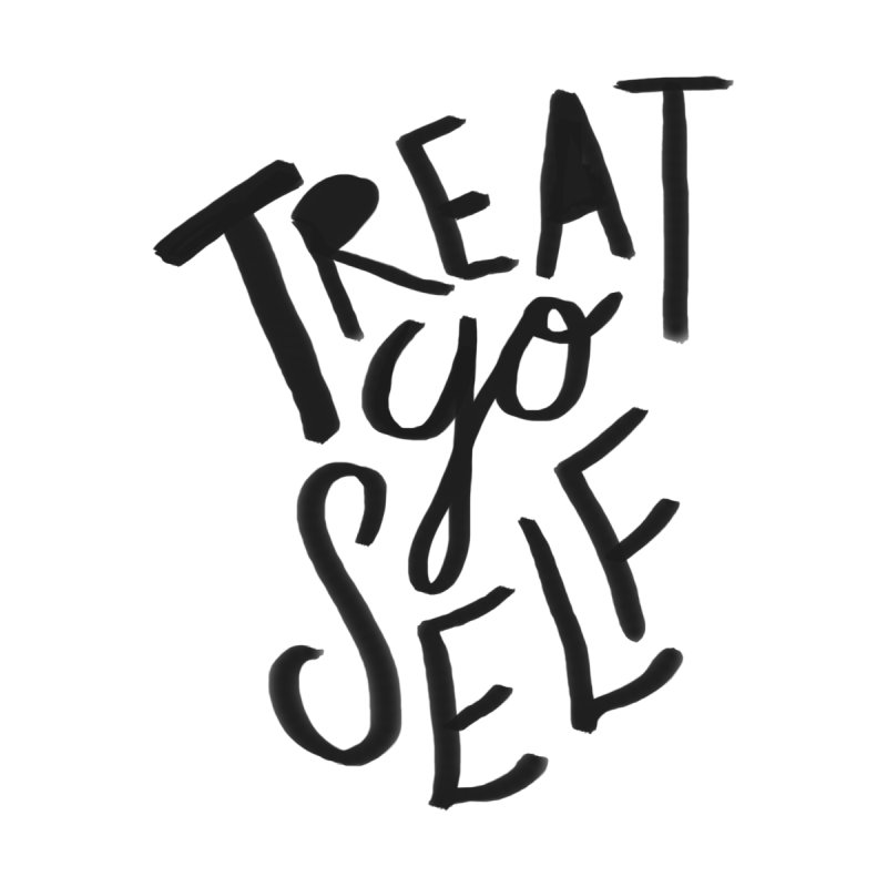 Treat Yo Self Women's Scoop Neck by Leah Flores' Artist Adventureland Shop