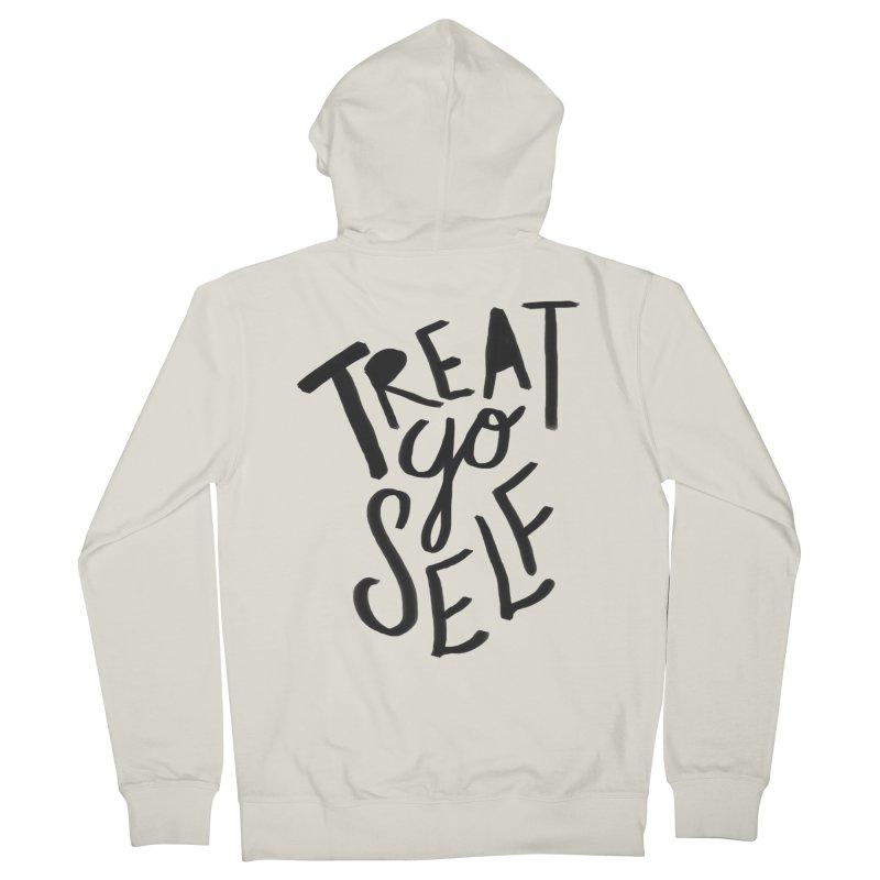 Treat Yo Self Men's Zip-Up Hoody by Leah Flores' Artist Adventureland Shop