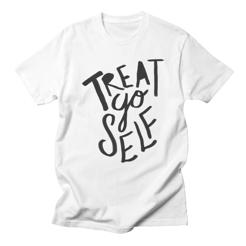 Treat Yo Self Men's Regular T-Shirt by Leah Flores' Artist Adventureland Shop