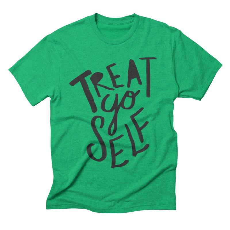 Treat Yo Self Men's Triblend T-shirt by Leah Flores' Artist Adventureland Shop