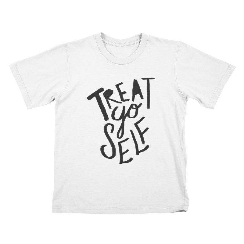 Treat Yo Self Kids T-Shirt by Leah Flores' Artist Adventureland Shop