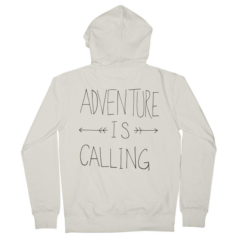 Adventure Is Calling Men's Zip-Up Hoody by Leah Flores' Artist Adventureland Shop