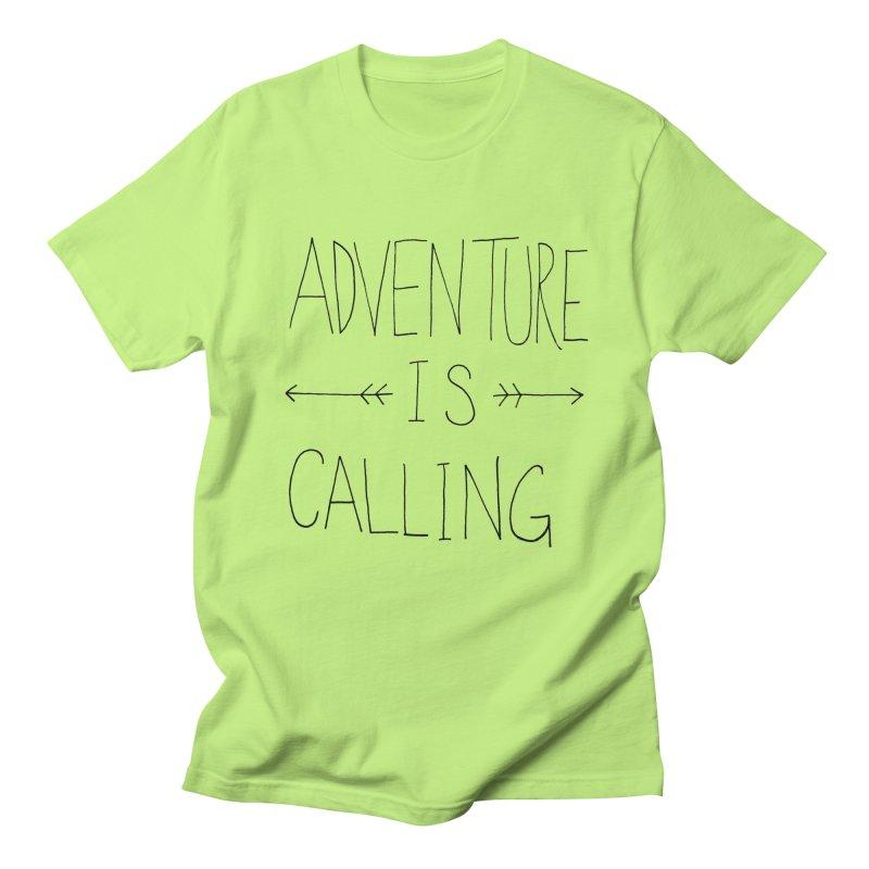 Adventure Is Calling Men's T-shirt by Leah Flores' Artist Adventureland Shop