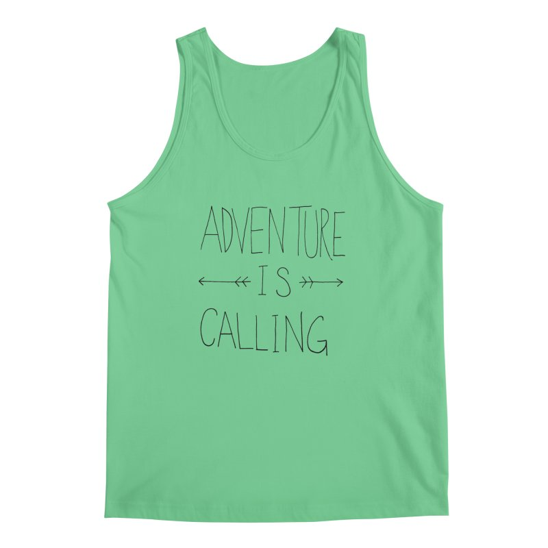 Adventure Is Calling Men's Tank by Leah Flores' Artist Adventureland Shop
