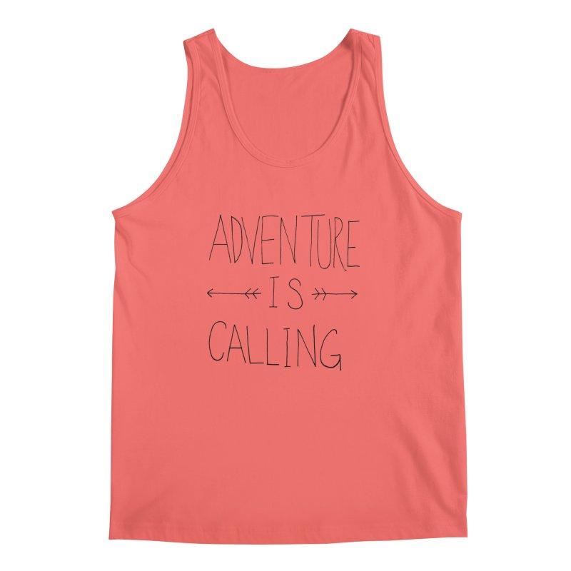 Adventure Is Calling Men's Tank by Leah Flores' Artist Adventureland Shop
