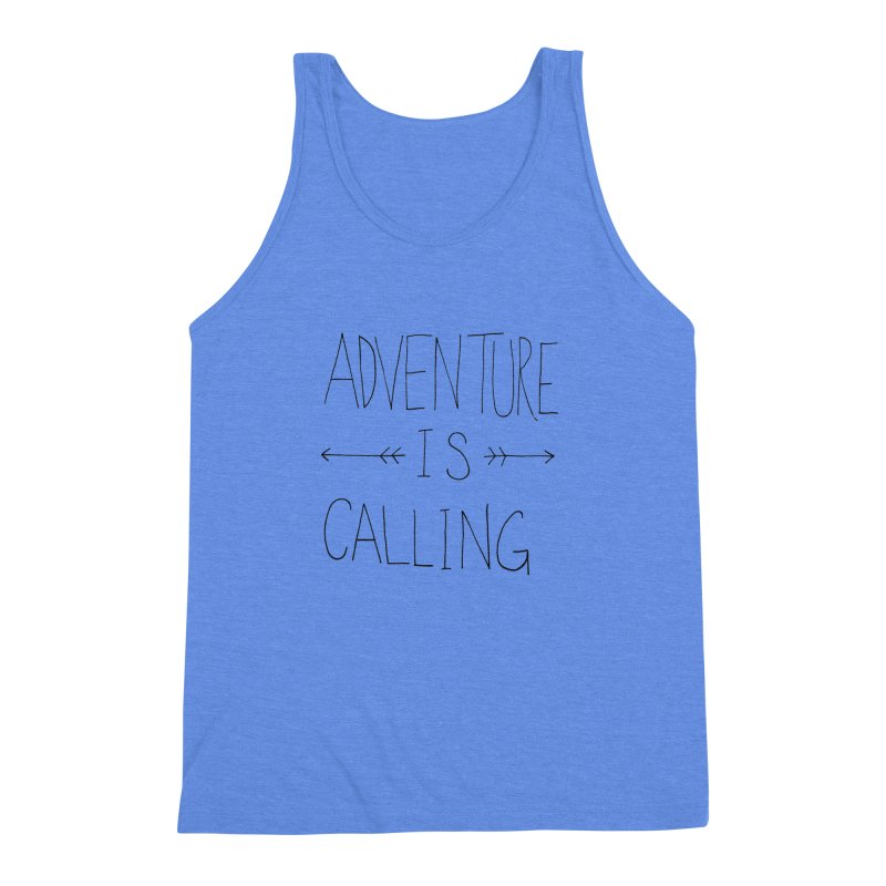 Adventure Is Calling Men's Triblend Tank by Leah Flores' Artist Adventureland Shop