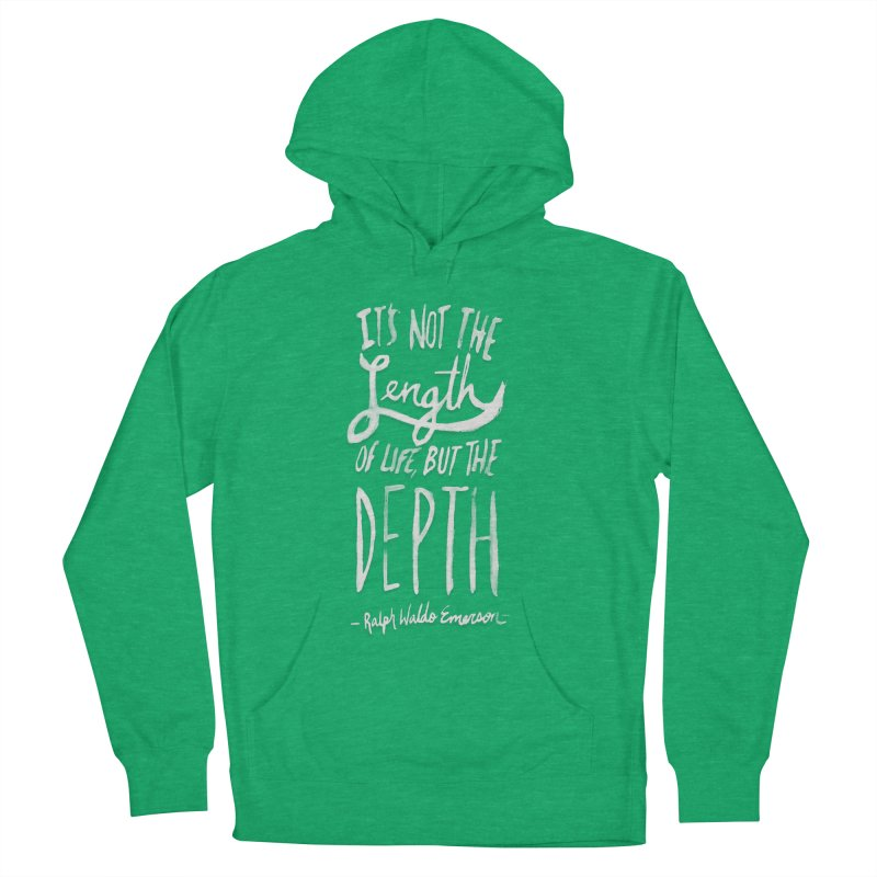 Depth Men's French Terry Pullover Hoody by Leah Flores' Artist Adventureland Shop