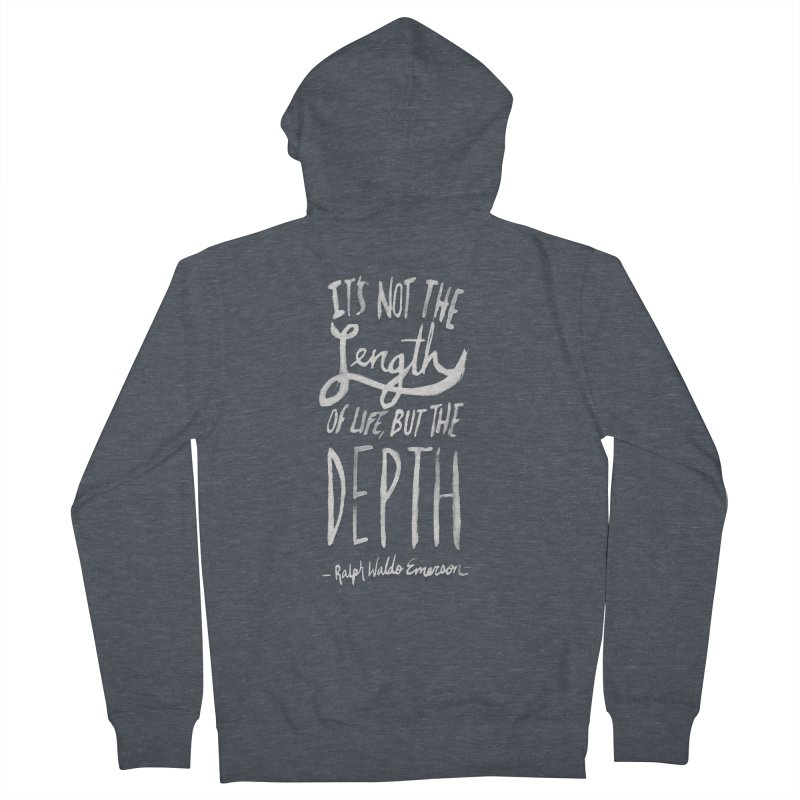 Depth Men's French Terry Zip-Up Hoody by Leah Flores' Artist Adventureland Shop