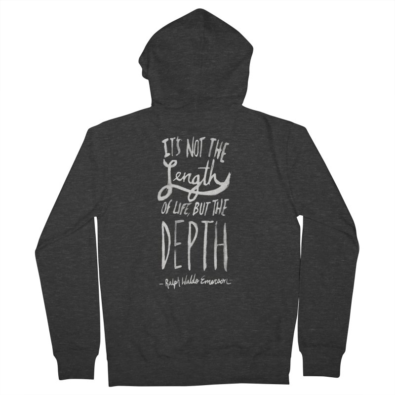 Depth Men's Zip-Up Hoody by Leah Flores' Artist Adventureland Shop