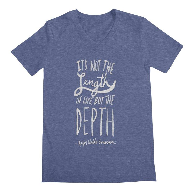Depth Men's Regular V-Neck by Leah Flores' Artist Adventureland Shop