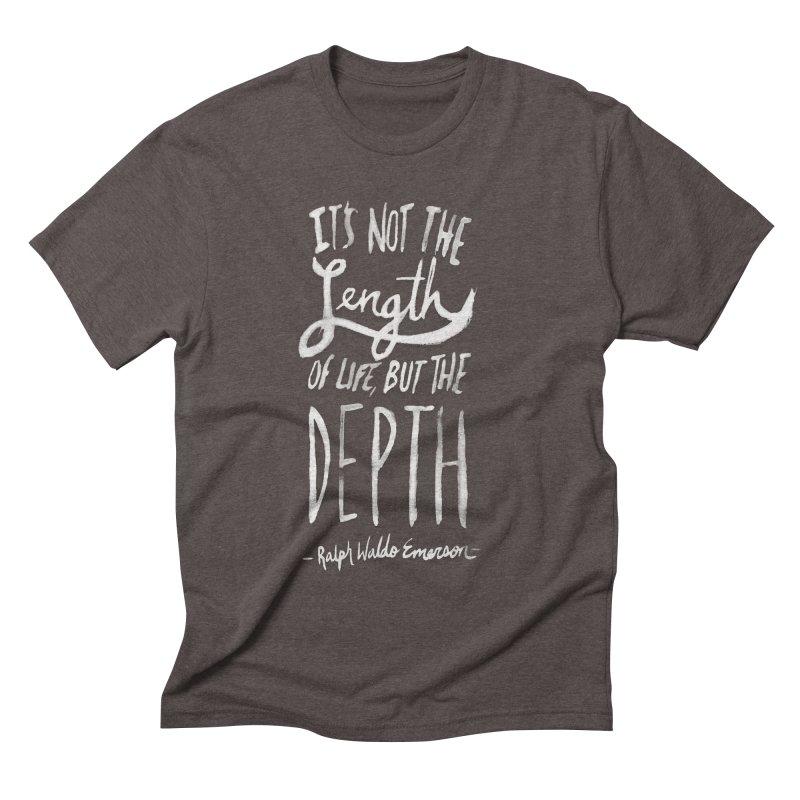 Depth Men's Triblend T-shirt by Leah Flores' Artist Adventureland Shop