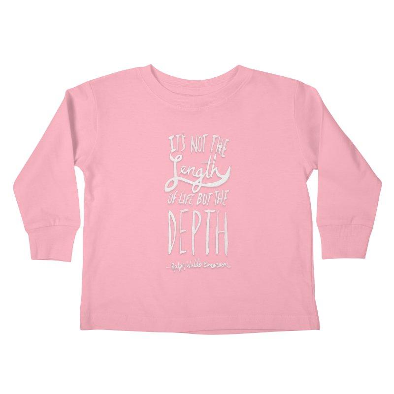 Depth Kids Toddler Longsleeve T-Shirt by Leah Flores' Artist Adventureland Shop