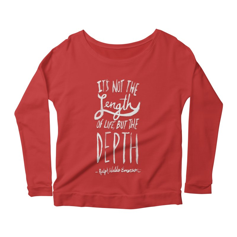 Depth Women's Scoop Neck Longsleeve T-Shirt by Leah Flores' Artist Adventureland Shop