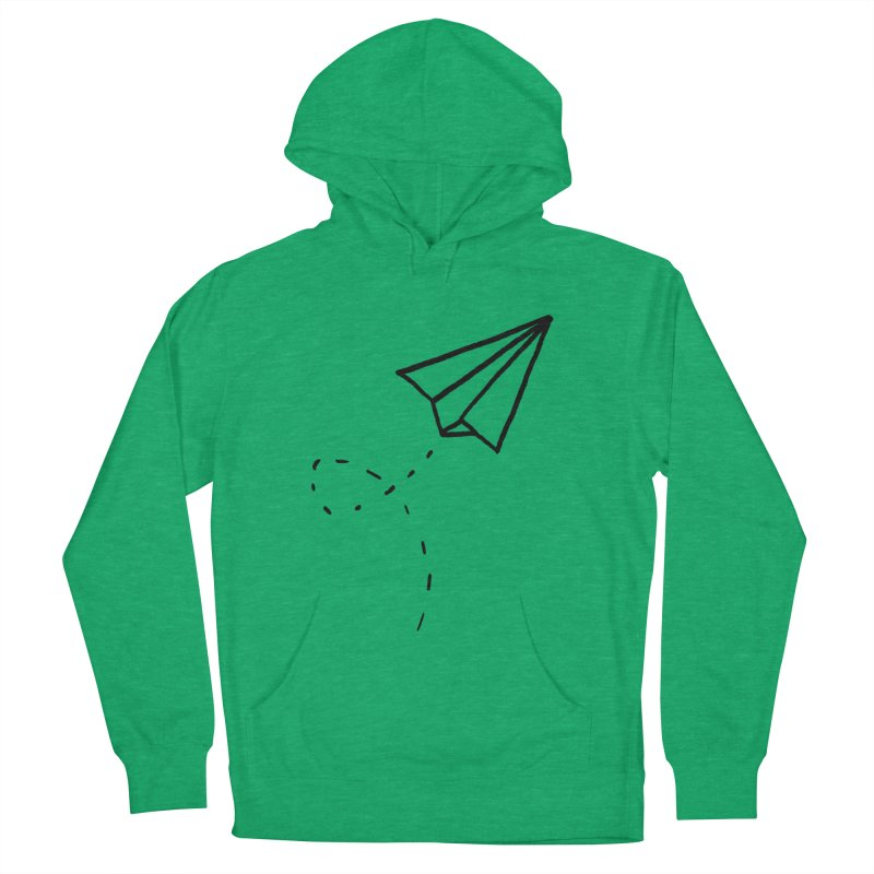 Paper Plane Women's Pullover Hoody by Leah Flores' Artist Adventureland Shop