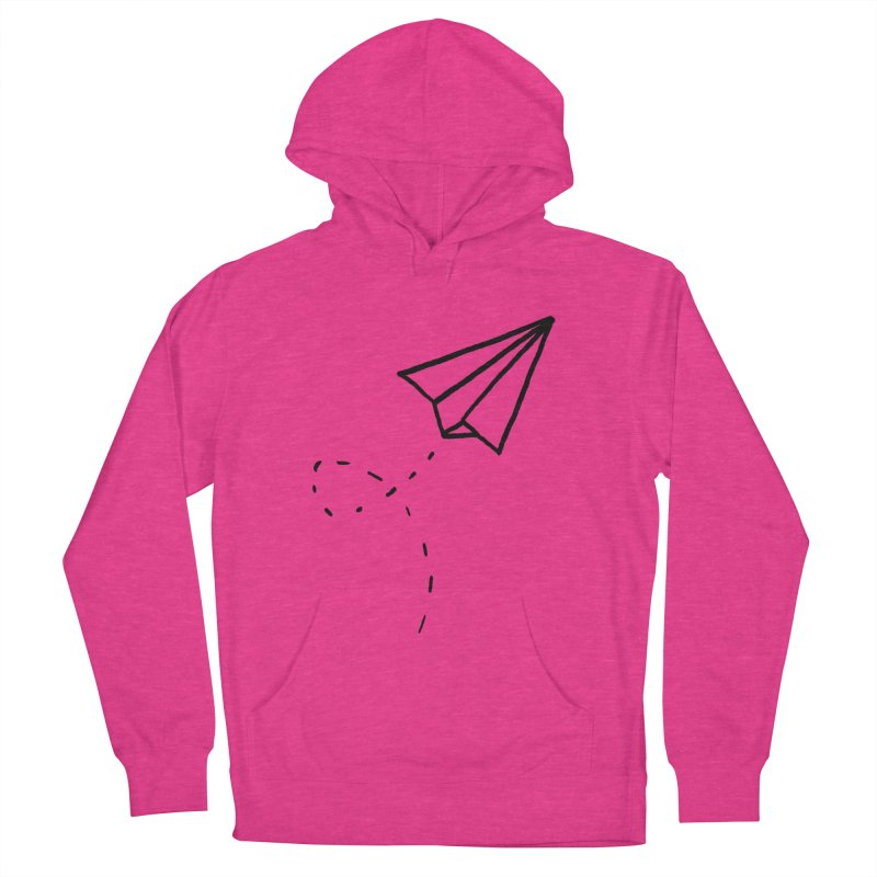 Paper Plane Women's French Terry Pullover Hoody by Leah Flores' Artist Adventureland Shop
