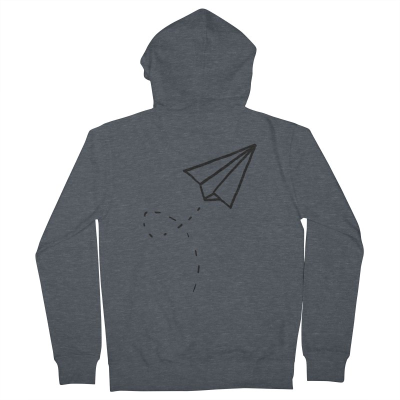 Paper Plane Women's Zip-Up Hoody by Leah Flores' Artist Adventureland Shop