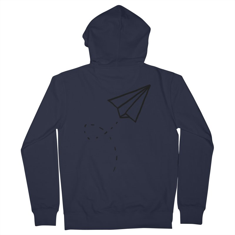 Paper Plane Women's French Terry Zip-Up Hoody by Leah Flores' Artist Adventureland Shop