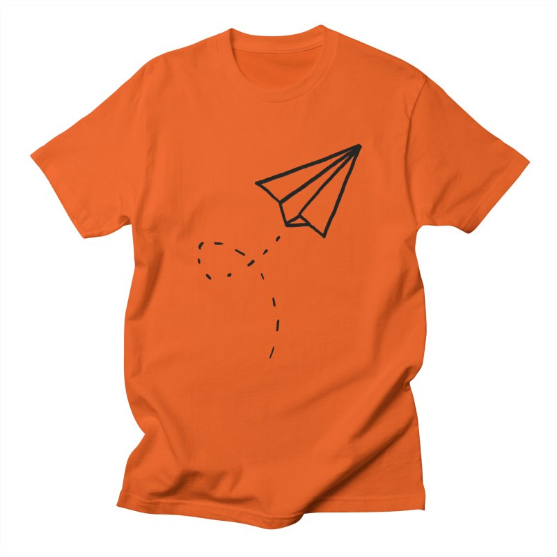 Paper Plane Men's Regular T-Shirt by Leah Flores' Artist Adventureland Shop