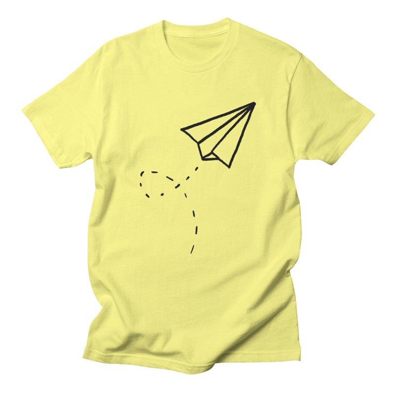Paper Plane Men's Regular T-Shirt by Leah Flores' Artist Adventureland Shop