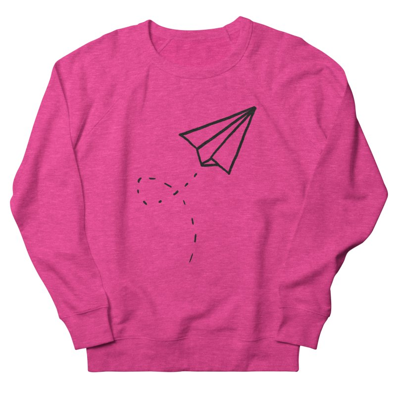 Paper Plane Women's Sweatshirt by Leah Flores' Artist Adventureland Shop