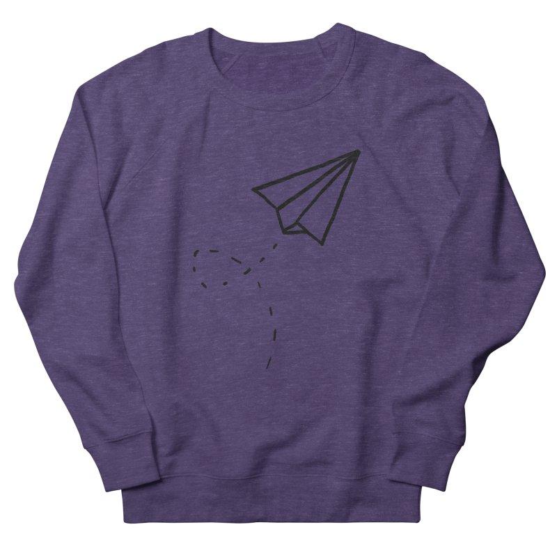 Paper Plane Men's French Terry Sweatshirt by Leah Flores' Artist Adventureland Shop