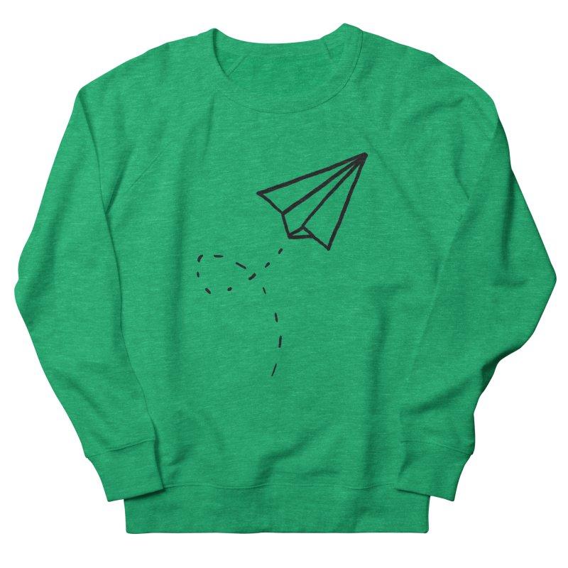 Paper Plane Men's Sweatshirt by Leah Flores' Artist Adventureland Shop
