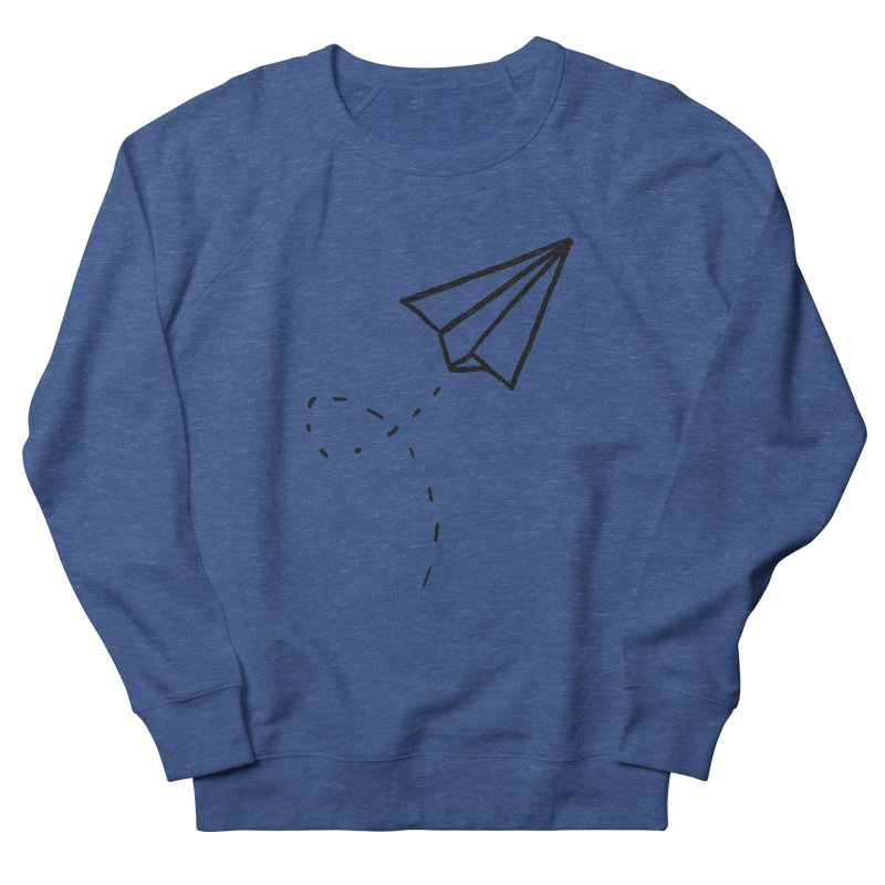 Paper Plane Men's French Terry Sweatshirt by Leah Flores' Artist Adventureland Shop