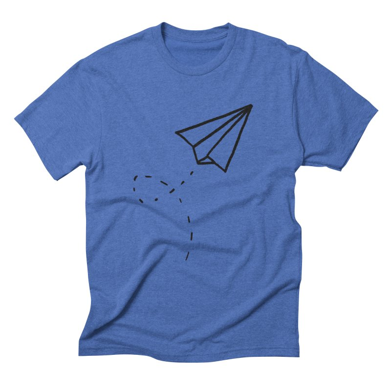 Paper Plane Men's Triblend T-Shirt by Leah Flores' Artist Adventureland Shop