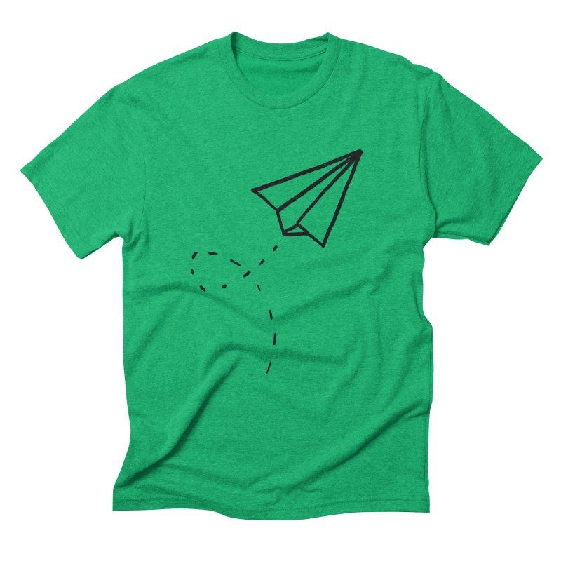 Paper Plane Men's Triblend T-Shirt by Leah Flores' Artist Adventureland Shop